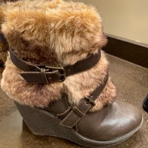 Baby Phat boots with faux fur